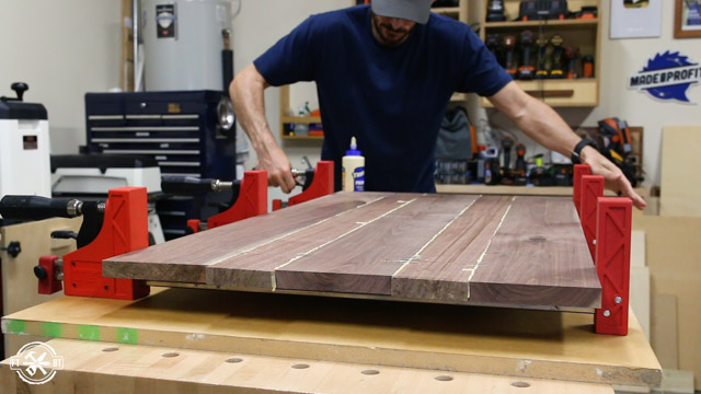 clamping wooden table top