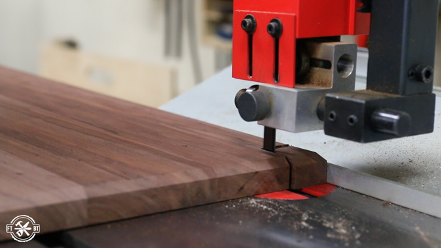 cutting notch in wood with bandsaw