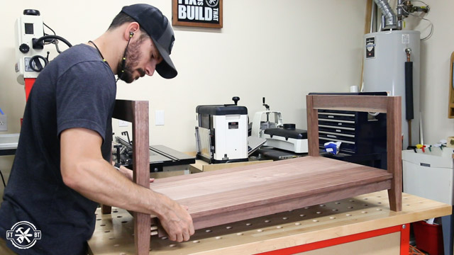 fitting lower shelf to coffee table