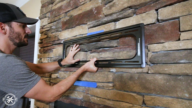 Mounting A Tv Above Fireplace With, Outdoor Fireplace Kit With Tv Mount