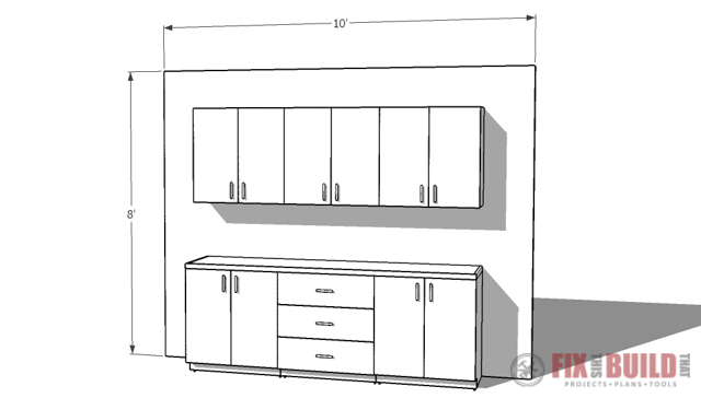 DIY Garage CAbinet Sample Layout