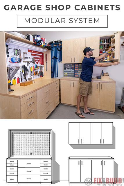 DIY Garage Cabinets Modular System