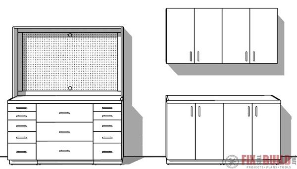 Modular DIY Garage Cabinets Plans