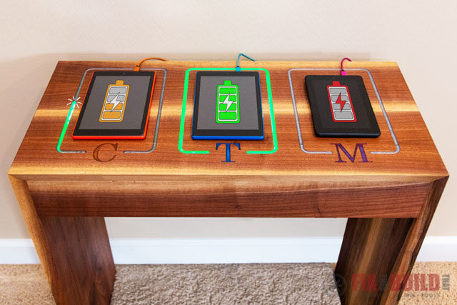 DIY Charging Station with LED Lights