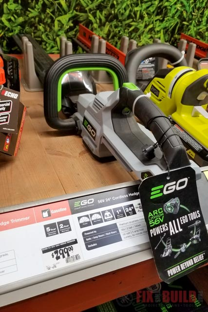 EGO Hedge Trimmer at Home Depot