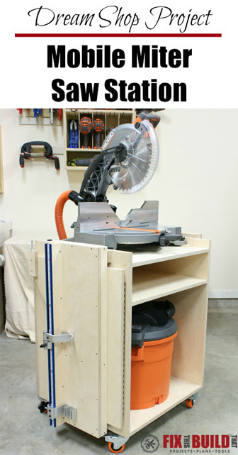 Mobile Miter Saw Station DIY