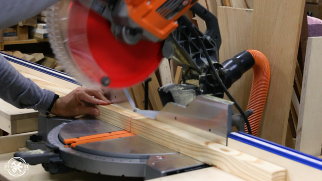 cutting 2x2s with a miter saw