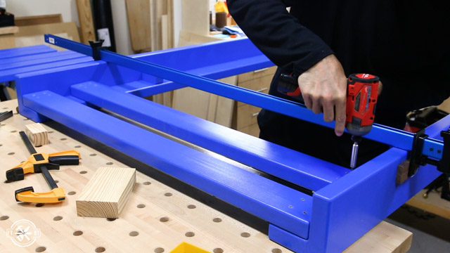 screwing guard rails into loft bed frame