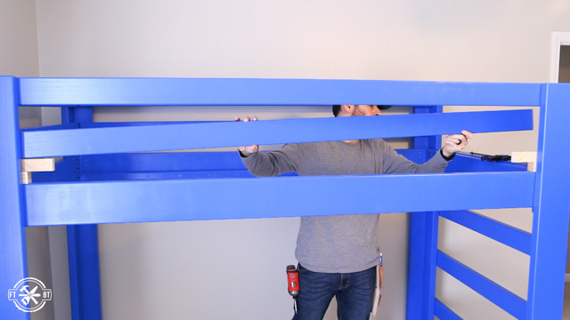 attaching guard rails to diy loft bed