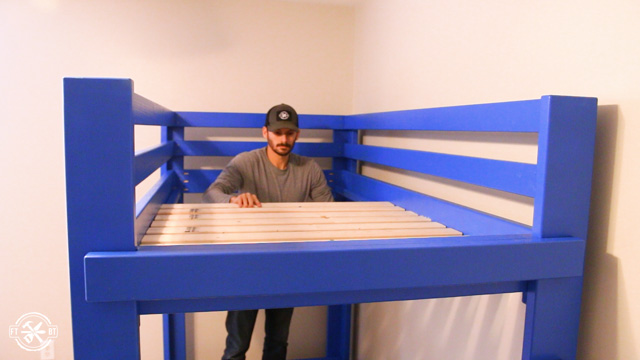 adding slats to loft bed