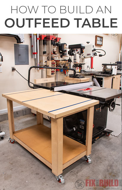 how to build a table saw outfeed table