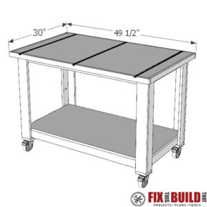 Table Saw Outfeed Table PDF Plan