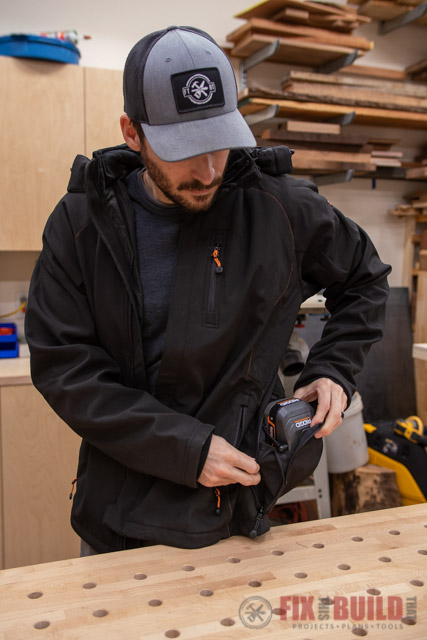 Ridgid 18V Heated Jacket with Removable Hood
