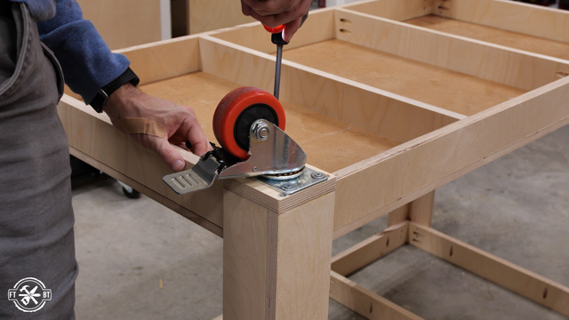 adding castors to table legs