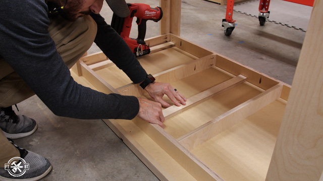 adding plywood to underside of MDF