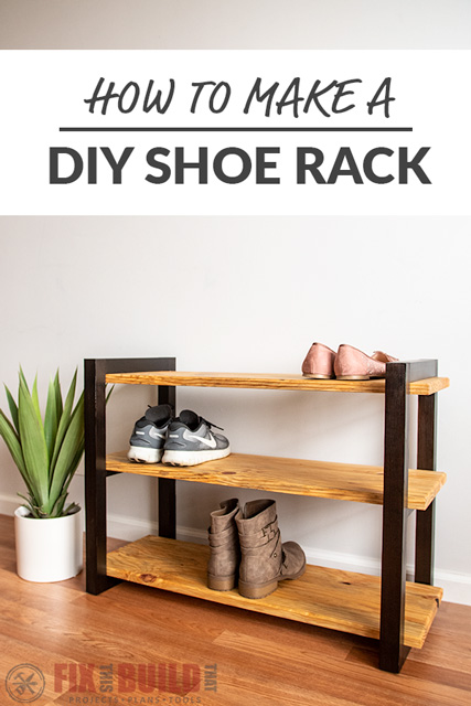 DIY Shoe Rack Plans