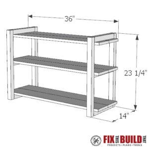 DIY Shoe Rack PDF Plans