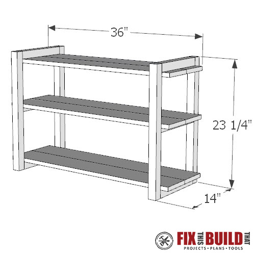DIY Shoe Rack PDF Plans