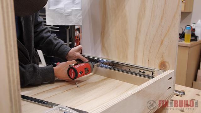install drawer slide using spacer