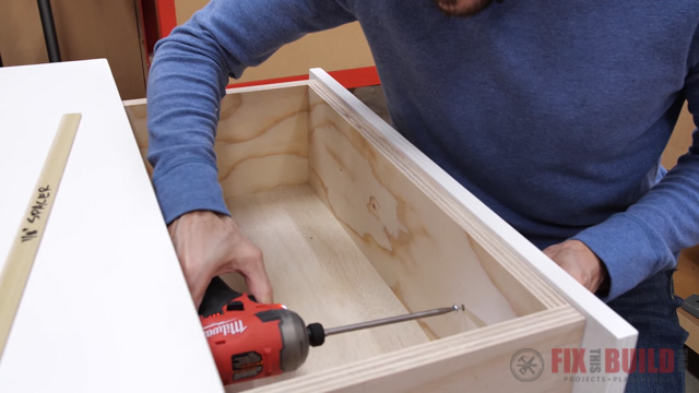 drilling through drawer base into drawer front