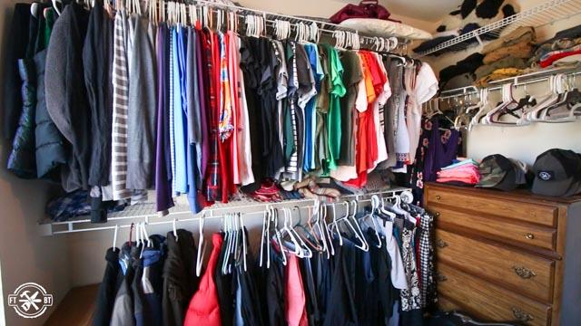 before shot of closet