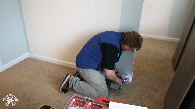 removing the baseboards from closet