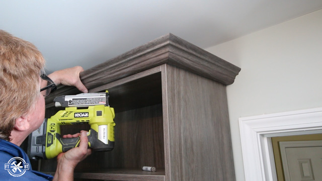adding crown molding to closet system