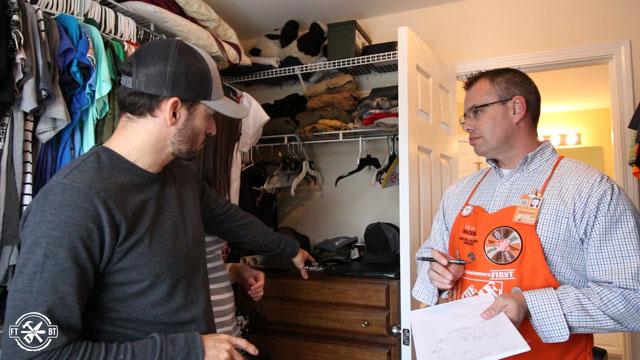 discussing needs for new closet design
