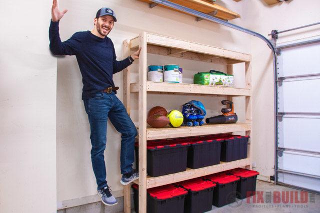 DIY Garage Shelves How to Build