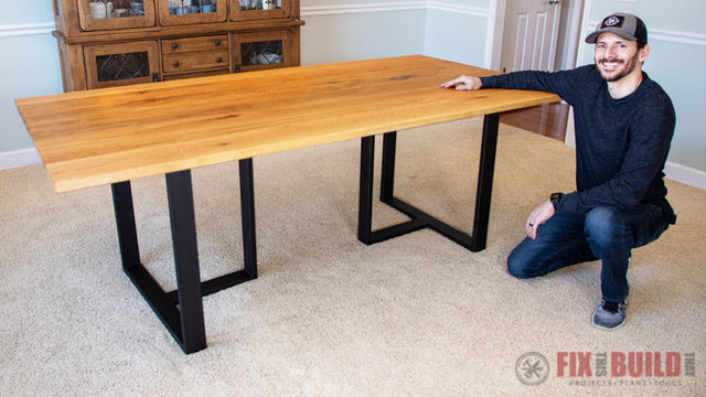 How To Build A Wood And Metal Dining Table Fixthisbuildthat - How To Attach Metal Legs Wood Table