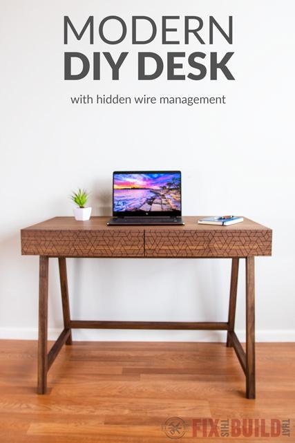 how to build a modern diy desk