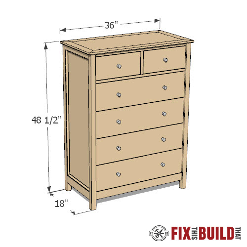 Diy Dresser 6 Drawer Tall