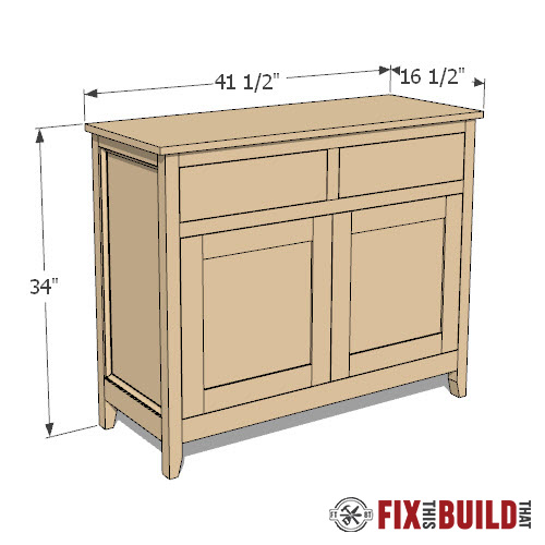 DIY Sideboard Cabinet Plans
