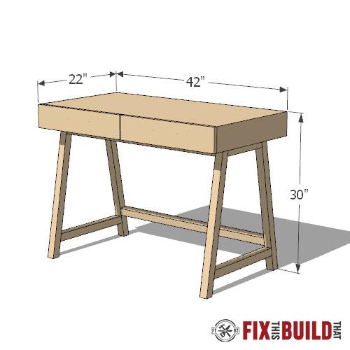 modern diy desk plans