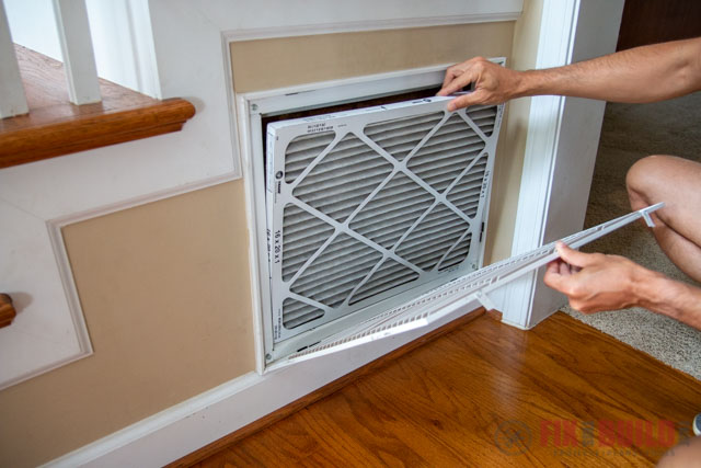changing air filter in house