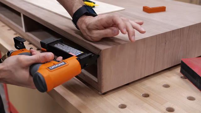 Adding edge banding to plywood desk