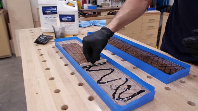 Adding epoxy to wood