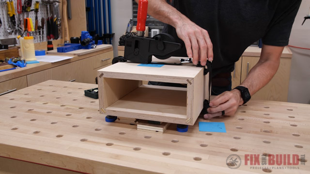 clamping mitered box