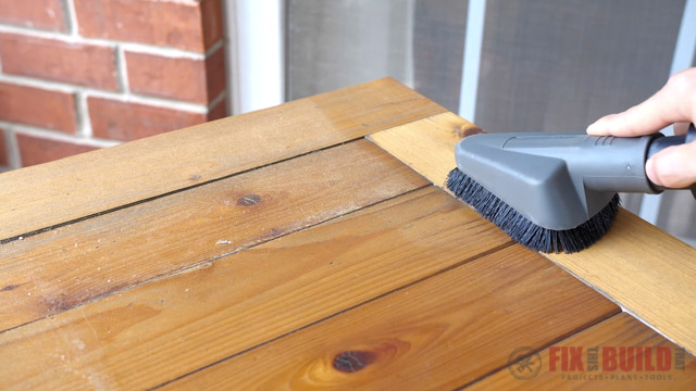 cleaning off wood
