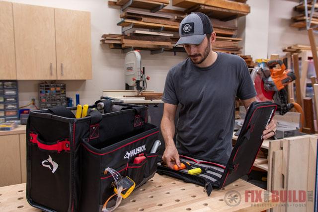 Husky Pro Hybrid Tote with Tool Organizer