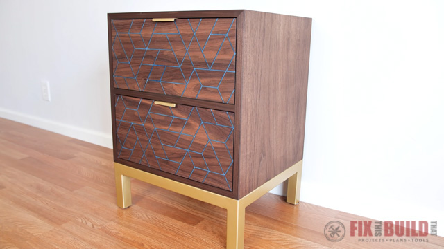 DIY Nightstand with Epoxy Inlay