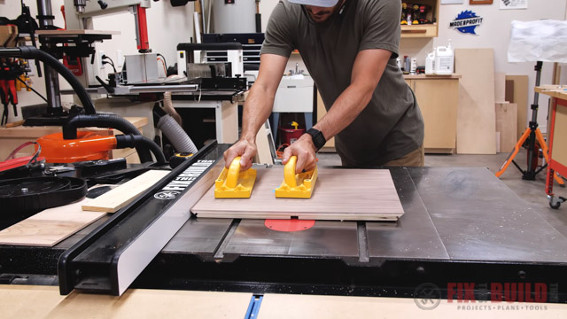 cutting miters for diy nightstand