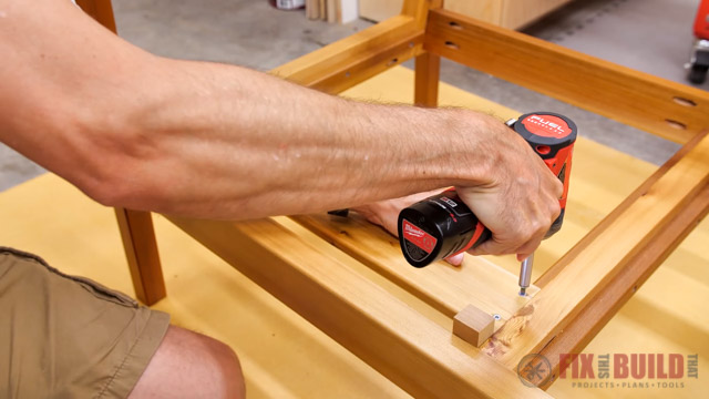 attaching slats to wooden frame