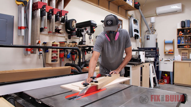 using tapering jig