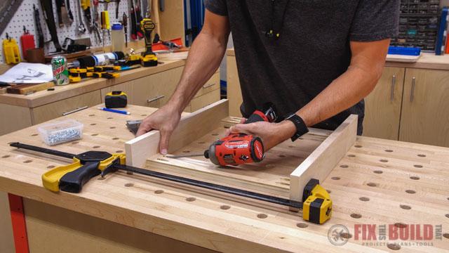 making mounting insert for drawer slides