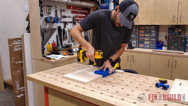 using shelf jig to add holes
