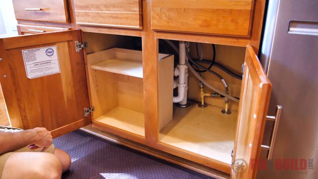 adding shelves under sink