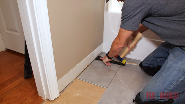 installing vinyl plank flooring with pull bar