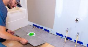 Viny Plank Flooring Bathroom Install