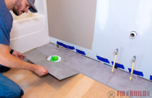 Viny Plank Flooring Bathroom Install